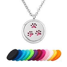 com q locket love dog pawprint