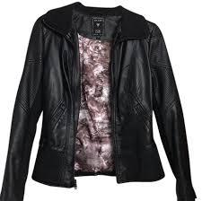 steve madden black leather jacket