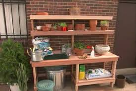 garden potting bench ron hazelton