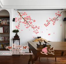 Pink Cherry Blossom Wall Decals Vinyl By Cuma Wall Decals On Zibbet