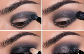 dark and sparkly eye makeup look