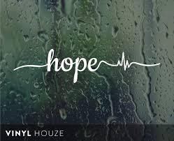Hope Inspirational Faith Vinyl Decal Sticker For Car Truck Etsy