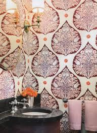lotus wallpaper in plum house