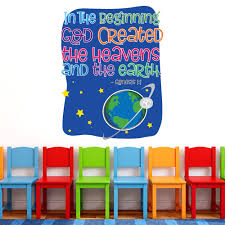 In The Beginning Wall Words Creative For Kids