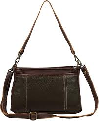 Amazon.com: Myra Bag Day Twist Leather Crossbody Bag S-1588: Shoes