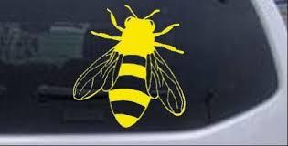 Amazon Com Rad Dezigns Honey Bee Animals Car Window Wall Laptop Decal Sticker Yellow 3in X 2 7in Automotive
