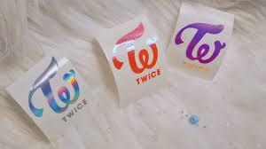 Twice Kpop Logo Decal Holographic Vinyl Sticker Kpop Logos Vinyl Sticker Kpop
