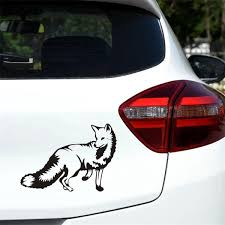 10cm 14cm Fox Car Decal Hunting Club Sticker Car Window Vinyl Decal Funny Poster Motorcycle 6 Colors Wish