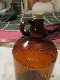 amber brown glass bottle jug