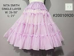 VINTAGE NITA SMITH Crinoline Petticoat Slip Square Dance lilac purple  rockabilly - $15.00   PicClick