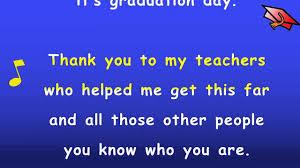 kindergarten graduation song lyrics karaoke sing along