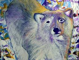 Freedom- Sunlit Bear Painting by Myrna Brooks Bercovitch