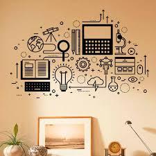 Computer Technology Wall Decal Vinyl Sticker Science Education Home School Classroom Art Decor Self Adhesive Murals 3r012 Wall Stickers Aliexpress