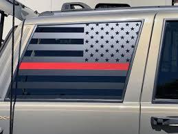 Window Flags Zj Rear Passenger And Driver Set Of 2 Sir Vivor
