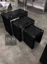 black mirror crush nest of 3 tables