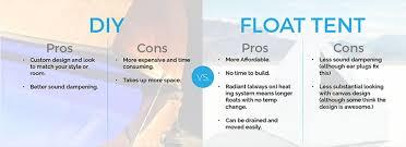 diy float tank vs ing