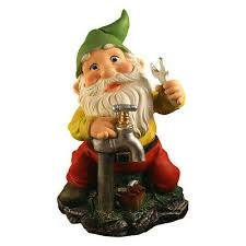 gnome sculpture dwarf statue plumber