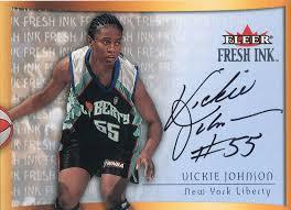 Vickie Johnson Autographed 2000 Fleer Skybox Card – Hollywood ...