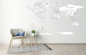 With United States Push Pin World Map Decal Detailed World Map Etsy Map Wall Decal Push Pin World Map Detailed World Map