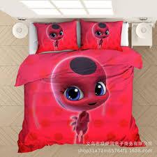 miraculous ladybug 3 piece bed set