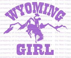 Wyoming Girl Vinyl Decal Sticker With Bucking By Lilbitolove On Zibbet