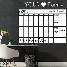 Updates From Artsywallsandmore On Etsy Chalkboard Wall Calendars Dry Erase Wall Dry Erase Wall Calendar