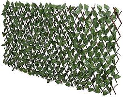 Amazon Com Fashion Garden Fence Expandable Faux Ivy Privacy Fence Artificial Hedge 39x78 Inch Single Sided Colour Leaves Green Garden Outdoor