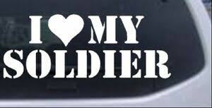 I Love My Soldier Car Or Truck Window Laptop Decal Sticker Ebay