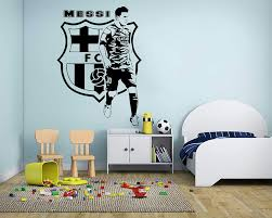 Amazon Com Lionel Messi Wall Decals Barcelona Football Player Decals Soccer Football Player Wall Sticker Vinyl Art Boy Room Decor Made In Usa Kitchen Dining