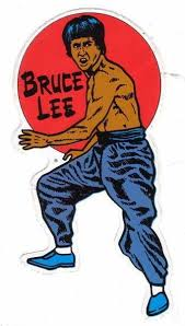 Bruce Lee Sticker Kung Fu