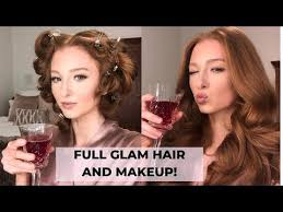 full glam hair and makeup