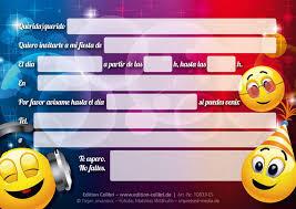 Edition Colibri 10 Invitaciones En Espanol Emoticonos En La