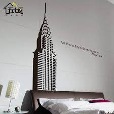 New York Skyline Vinyl Wall Decal The Empire State Building Mural Usa Skyline Wall Sticker Office Living Room Bedroom Decoration Bedroom Decor Skyline Wall Stickersvinyl Wall Decals Aliexpress