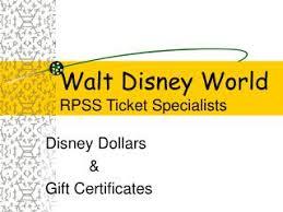 ppt walt disney world rpss ticket