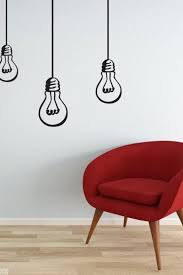 Wall Decal Bulbs Hanging Lights Bulb Decal Vinyl Wall Sticker For Any Rooms Modern Decor Wall Murals Bedroom Vinyl Wall Stickers Wall Decals Living Room