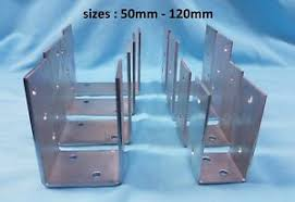 Heavy Duty Galvanised U Type Fence Post Foot Support Anchor 4mm Thick Ebay