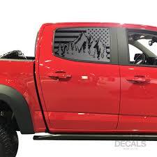 Usa Flag W Mountain Scene Decal For 2014 2020 Chevy Colorado Rear Door Tactical Decals