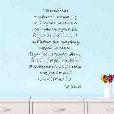 Dr Seuss Painting Quote Life Love Forgive Home Decal Wall Sticker For Kids Room Living Room Decorative Wallposter 57 88cm Forgiveness Quotes Inspirational Quotes Quotes For Kids