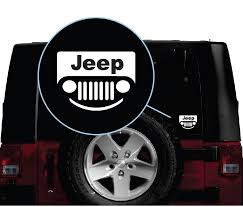 Jeep Smile Grill Jeep Decal Stickers Aftermarket Replacement Non Factory Custom Sticker Shop