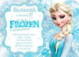 Elsa Congelado Invitacion De Cumpleanos Para Imprimir