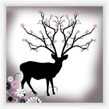 Deer And Flowers Wall Art Walmart Com Walmart Com