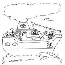 Kleurplaat Sinterklaas Op Zijn Stoomboot Kleurplaatarchief Nl