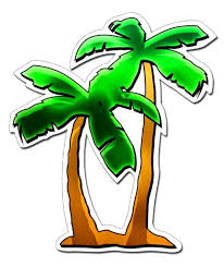 Fun Girly Tropical Palm Tree Car Auto Decal Sticker