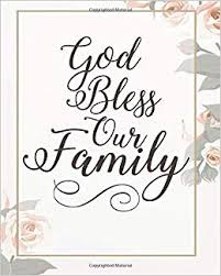 god bless our family floral bible for journaling dot grid journal