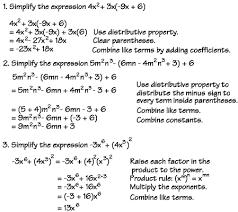 algebra basics simplifying examples