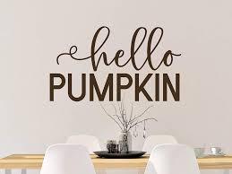 Amazon Com Tiukiu Hello Pumpkin Decal Hello Pumpkin Wall Decal Fall Door Decal Hello Fall Decal Hello Pumpkin Vinyl Decal Fall Wall Decal 12 Inch In Width Kitchen Dining