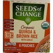 change quinoa brown rice with garlic