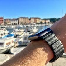 black wristwear leather loop captured
