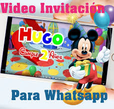 Video Invitacion Tarjeta Mickey Mouse Cumpleanos Personaliz