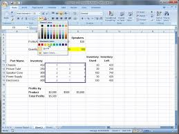 using excel solver in excel 2007 you